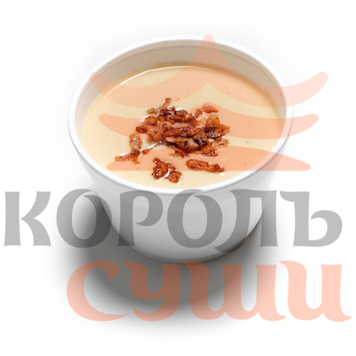 Сырный суп с беконом