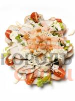 Цезарь темпура с салатом
